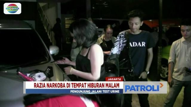 Menjelang Tahun Baru 2019, Polres Jakarta Selatan razia narkoba di sejumlah hiburan malam.