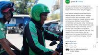 Vincent Herling yang kerap disapa Opa, driver ojol lansia yang ingin mengajak istri liburan dan merayakan ultah cucu di restoran siap saji (Foto: Instagram/ @grabid)