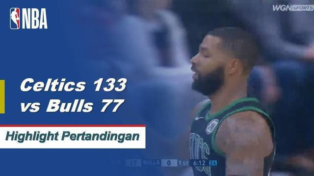 Jaylen Brown mencetak 23 poin dari bangku cadangan ketika Boston Celtics memenangi pertandingan kelima beruntun mereka dengan memberi Bulls kehilangan rumah terburuk mereka dalam sejarah waralaba, 133-77