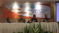 Seminar Ramadan: Order Fiktif di Transportasi Online di Indonesia. Liputan6.com/Jeko Iqbal Reza