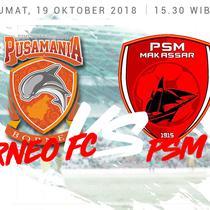 Liga 1 2018 Pusamania Borneo FC Vs PSM Makassar (Bola.com/Adreanus Titus)