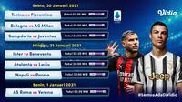 Pertandingan Liga Italia pekan ke-20 dapat disaksikan melalui platform streaming Vidio. (Dok. Vidio)