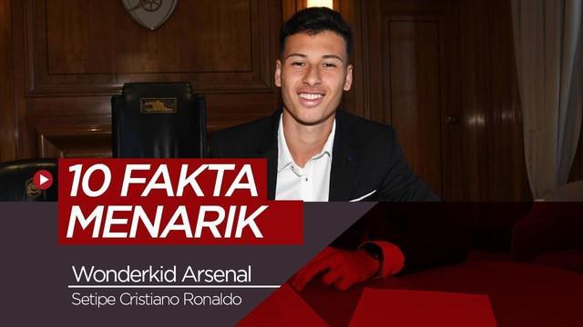Berita video 10 fakta menarik wonderkid Arsenal yakni Gabriel Martinelli yang memiliki posisi yang sama dengan Cristiano Ronaldo