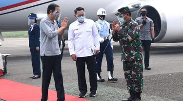 Presiden Joko Widodo atau Jokowi melakukan kunjungan kerja ke Kota Bandung Jawa Barat, Selasa (11/8/2020).