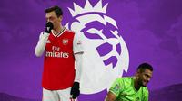 Premier League - Mesut Ozil dan Sergio Romero (Bola.com/Adreanus Titus)