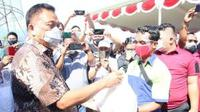 Gubernur Sulut Olly Dondokambey dalam sebuah kegiatan seremonial, Sabtu (1/5/2021).