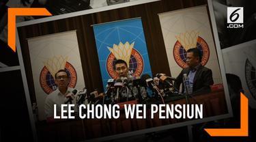Federasi Bulutangkis Malaysia umumkan pensiunnya pebulutangkis Lee Chong Wei hari Kamis (13/6). Mundurnya Chong Wei terkait alasan kesehatan.
