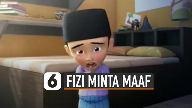 Setelah perkataan yang Fizi katakan waktu itu. Akhirnya di saat Hari raya Idul Fitri, Fizi meminta maaf kepada Upin dan Ipin karena perkataanya yang membuat Upin dan Ipin sedih.