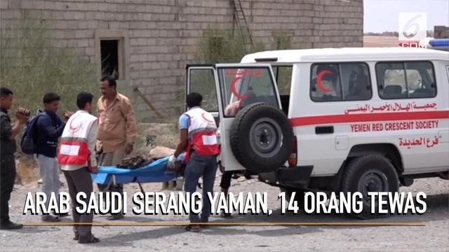 Koalisi Arab Saudi kembali lancarkan serangan udara ke Yaman dan menewaskan 14 orang.