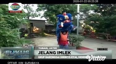 Perayaan Imlek 2571 membawa berkah tersendiri bagi seniman barongsai di kabupaten Tuban, Jawa Timur dikarenakan jelang peringatan tahun baru cina mereka kebanjiran job pementasan bahkan meningkat drastis dibanding tahun lalu.