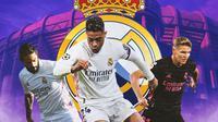 Real Madrid - Isco, Mariano Diaz, Martin Odegaard (Bola.com/Adreanus Titus)