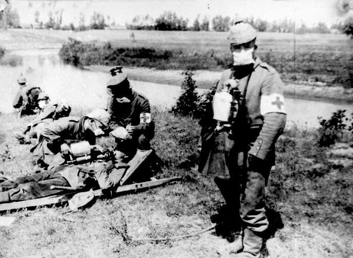 Serangan gas beracun Perang Dunia I (AP)