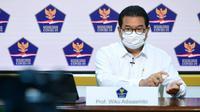 Juru Bicara Satgas Penanganan COVID-19 Wiku Adisasmito menyampaikan keamanan vaksin COVID-19 Sinovac sudah dipastikan BPOM di Kantor Presiden, Jakarta, Selasa (12/1/2021). (Biro Pers Sekretariat Presiden/Muchlis Jr)