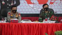 Panglima TNI Marsekal Hadi Tjahjanto dan Kapolri Jenderal Polisi Idham Azis  (Foto:Istimewa)