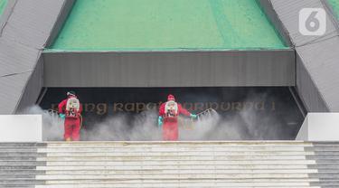 Gedung DPR Kembali Disemprot Disinfektan