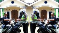 Pertama kali dalam sepanjang hidup, pengendara motor ditilang polantas di depan rumahnya.