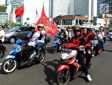 Kampanye Akbar Jokowi - Amin, Massa Konvoi Menuju GBK