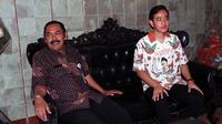 Putra Presiden Jokowi, Gibran Rakabuming melakukan pertemuan tertutup dengan Wali Kota Solo, Rabu (18/9).(Liputan6.com/Fajar Abrori)