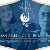 Kegiatan Syuting Amanda dan Arie di Bulan Ramadan.