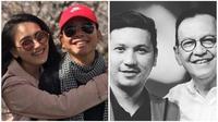 Kebersamaan Ayu Ting Ting bersama ayahnya Abdul Rojak dan kebersamaan Gading Marten bersama Roy Marten (Dok.Liputan6.com/Komarudin)