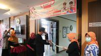 Peresmian Care Center Jo Kawin Bocah di Kantor Dinas Pemberdayaan Perempuan dan Perlindungan Anak, Pengendalian Penduduk dan Keluarga Berencana (DP3AP2KB) Kota Semarang.