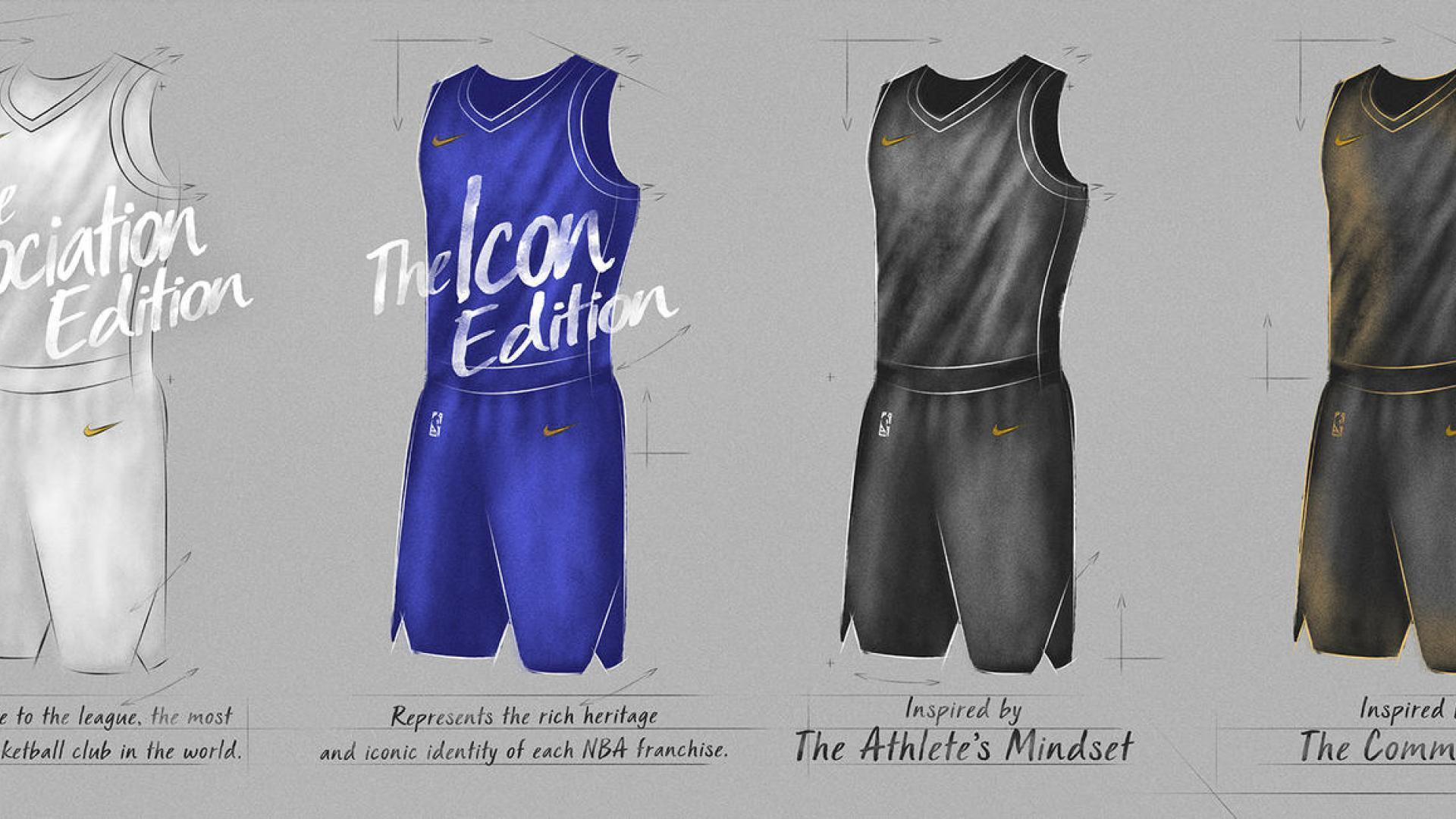 Empat desain Jersey NBA 2017-2018. (NBA.com)