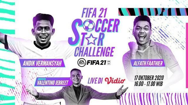 Berita Video Alfath Faathier berhasil kalahkan Andik Vermansah di FIFA 21 Soccer Star Challenge
