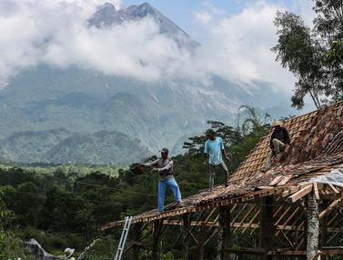 Aktivitas Warga dibawah Kaki Gunung Merapi