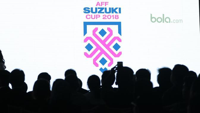 Peluncuran Logo baru Piala AFF Suzuki Cup 2018 di Hotel Mulia, Jakarta, Rabu (2/5/2018). Indonesia berada satu grup dengan Thailand, Singapura dan Filipina. (Bola.com/Nick Hanoatubun)