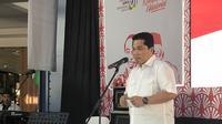 Erick Thohir menghadiri deklarasi Perempuan Keren di Citos Jakarta.