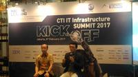 Konferensi pers CTI IT Infrastructure Summit 2017 yang mengambil tema machine learning (liputan6.com/Agustinus M. Damar)