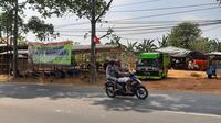 Lokasi penjualan hewan kurban di Jln. K.H. Hasyim Ashari, Kota Tangerang.