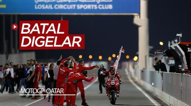 Berita video seri pertama MotoGP 2020 di Qatar batal digelar karena wabah virus Corona di Italia.