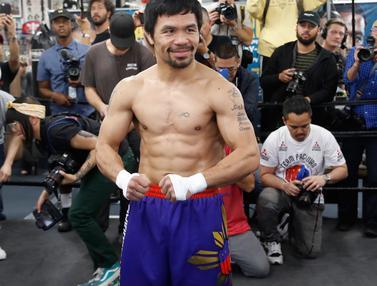 Latihan Santai Manny Pacquiao Jelang Hadapi Adrien Broner
