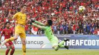 Pelatih timnas Australia, Trevor Morgan, mengungkapkan anak asuhnya tampil bagus saat mengalahkan Timnas Indonesia U-16. (AFC)