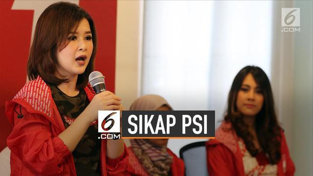 Partai Solidaritas Indonesia (PSI) menyatakan sikap terkait Revisi UU oleh DPR.