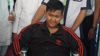 Eks pasien obesitas Arya Permana telah menjalani operasi bedah plastik dan diizinkan meninggalkan RSHS Bandung. (Liputan6.com/Huyogo Simbolon)