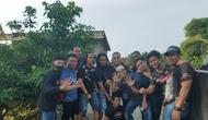 Timsus Polda Sulsel dan Polda Gorontalo usai menangkap perampok sadis (Fauzan/Liputan6.com)