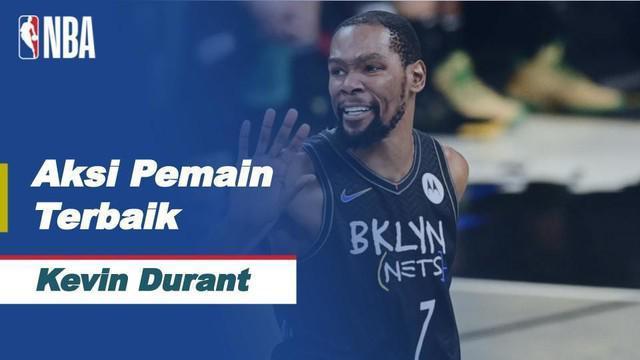 Berita Video Bintang Brooklyn Nets, Kevin Durant Jadi Pemain Terbaik di NBA Hari Ini