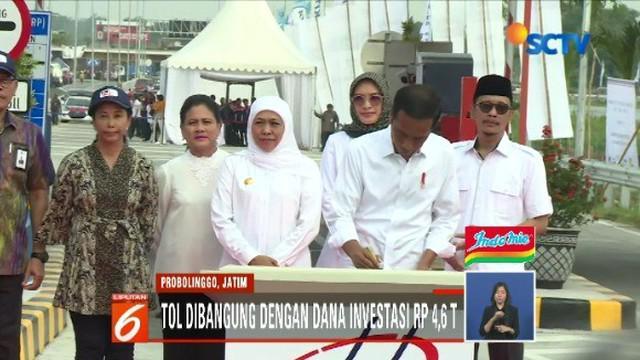 Dengan dana investasi Rp 4,6 triliun untuk pembangunan tol, Jokowi berharap dapat memperlancar distribusi barang dan jasa serta menghidupkan potensi pariwisata.