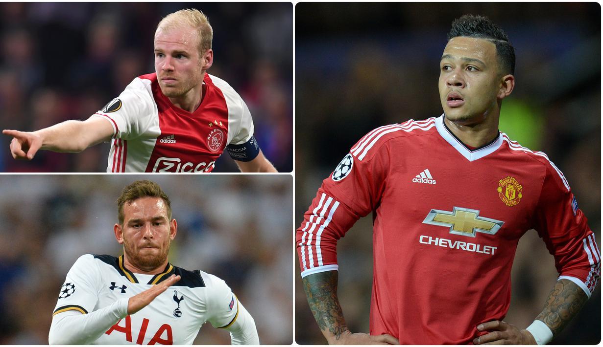 Banyak pemain bintang liga Belanda yang berhasil saat berkarier di kompetisi Premier League. Namun tidak sedikit pula pemain dari liga Belanda yang gagal menunjukkan performa terbaiknya di Liga Inggris. Berikut ini 5 bintang Liga Belanda yang gagal di Liga Inggris. (kolase foto AFP)