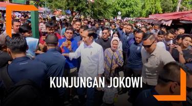 Presiden Jokowi dan keluarga berbelanja batik di pasar Beringharjo Yogyakarta. Dengan berjalan dari Gedung Agung menuju pasar Beringharjo Jokowi disambut meriah warga Yogyakarta. Jokowi berbelanja batik untuk sang cucu Jan Ethes