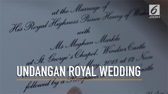 Sederhana, seperti ini penampakan undangan pernikahan dari Pangeran Harry dan Meghan Markle