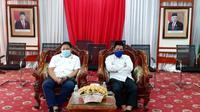 Kepala BPKAD  dan Inspektorat Kota Bengkulu mengikuti kegiatan Aksi Nasional Pencegahan Korupsi secara virtual. (Liputan6.com/Yuliardi Hardjo)