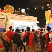 Booth Emtek Group di Opening Ceremony Asian Games 2018. (Foto: Deki Prayoga/Bintang.com)