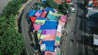 Kampoeng Bekelir di Kota Tangerang, Banten dilihat dari atas. (Liputan6.com/Pramita Tristiawati)