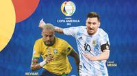 Copa America - Brasil Vs Argentina - Neymar Vs Lionel Messi (Bola.com/Adreanus Titus)
