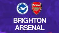 Liga Inggris: Brighton & Hove Albion Vs Arsenal. (Bola.com/Dody Iryawan)