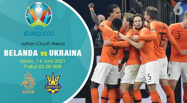 Piala Eropa Euro 2020 Belanda vs Ukraina