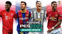 Cover eFootball PES 2021, Lionel Messi bersanding dengan Cristiano Ronaldo. (Dok. Konami)